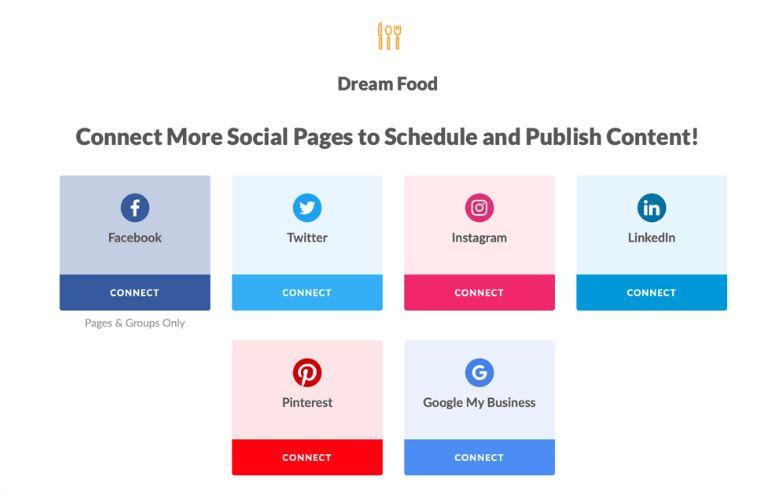 social media content calendar connection