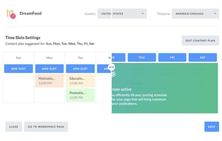 social media content calendar AI